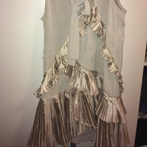 Gap Flare dress in tan